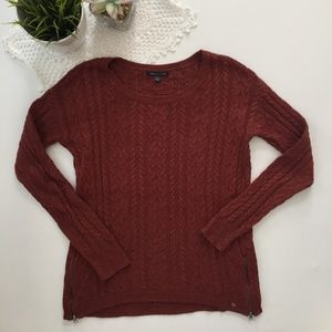American Eagle Dark Orange Knit Sweater